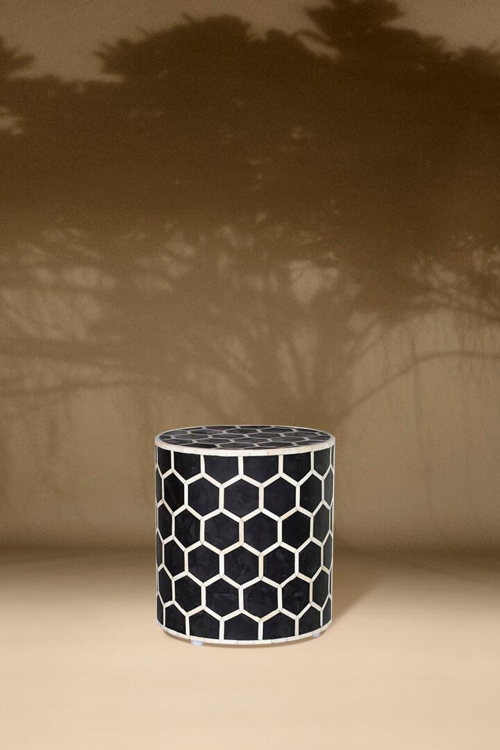 Honeycomb Inlay Stool